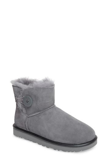 UGG? Mini Bailey Button II Genuine Shearling Lined Boot (Women)