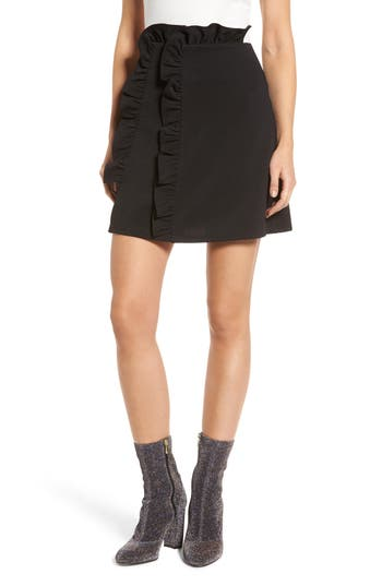 LOST INK Ruffle Miniskirt