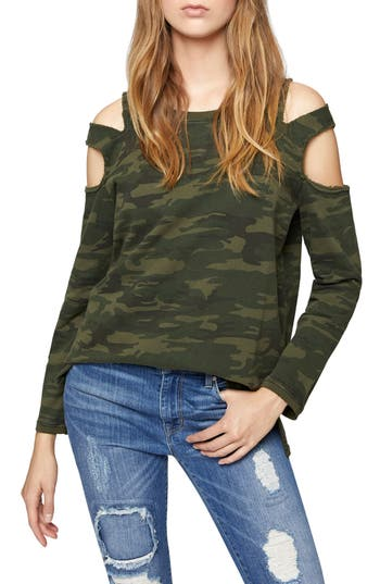 Sanctuary Park Slope Cold Shoulder Sweatshirt