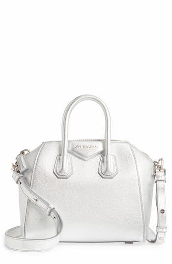 Givenchy Mini Antigona Metallic Leather Satchel