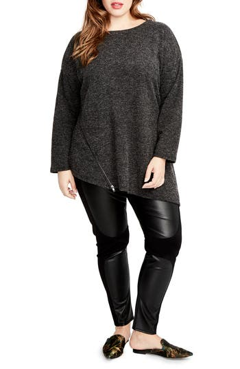 RACHEL Rachel Roy Betty Zip Detail Tunic (Plus Size)