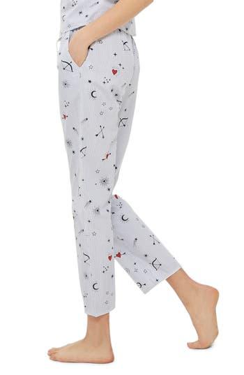 Topshop Heart Print Stripe Pajama Pants