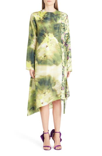 MSGM Tie Dye Silk Dress