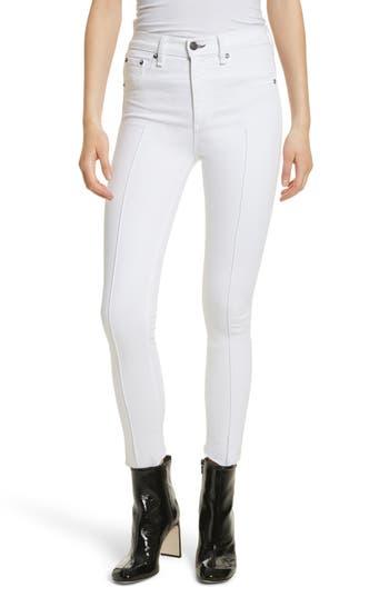 Rag Bone JEAN High Waist Ankle Skinny Jeans White Manson