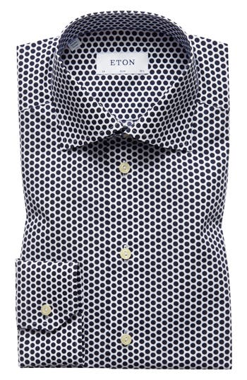 Slim Fit Dot Dress Shirt by Eton
