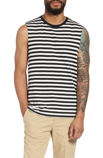 Vince Slim Fit Stripe Tank