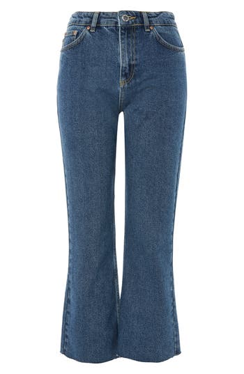Raw Hem Kick Flare Jeans by Topshop Boutique
