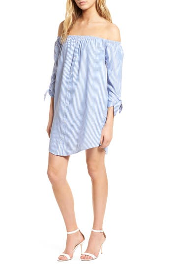 Ciara Off The Shoulder Shift Dress by Cupcakes And Cashmere