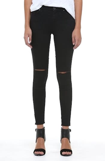 Moto 'Leigh' Ripped Skinny Jeans, video thumbnail