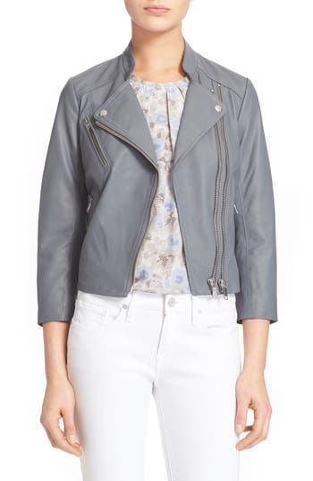 Joie 'Casella' Cropped Leather Jacket   Nordstrom