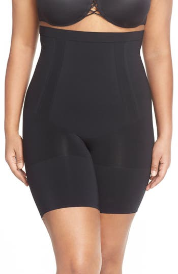 SPANX® OnCore High Waist Mid-Thigh Shorts (Plus Size)