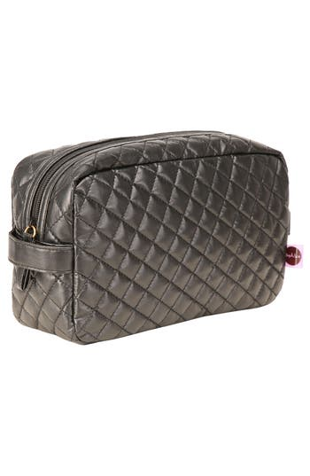 Alternate Image 4  - steph&co. 'Viveca' Quilted Black Cosmetics Case (Limited Edition) (Nordstrom Exclusive)