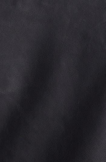 Alternate Image 3  - Halogen® Colorblock Leather Moto Jacket (Plus Size)