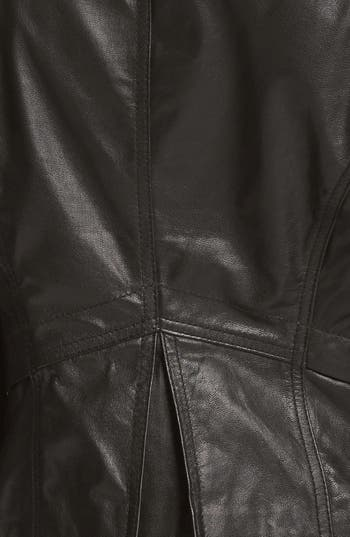 Alternate Image 3  - Collection B Leather Moto Jacket (Juniors) (Online Only)