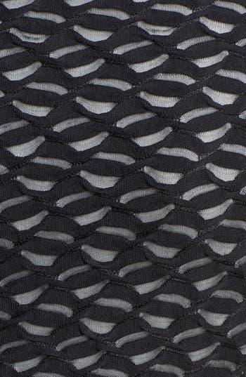 Alternate Image 4  - Donna Ricco Illusion Yoke Sheath Dress