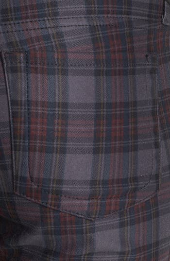 Alternate Image 3  - KUT from the Kloth 'Mia' Plaid Toothpick Skinny Jeans (Grey)