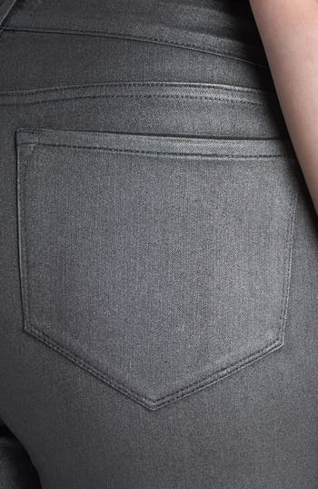 Alternate Image 3  - NYDJ 'Sheri' Foiled Stretch Skinny Jeans (Plus Size)