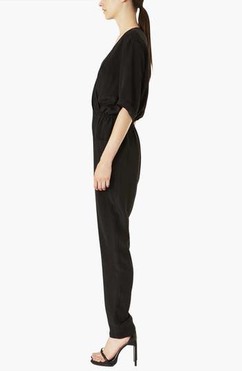 Alternate Image 3  - Topshop Boutique 'Linda' Silk Surplice Jumpsuit