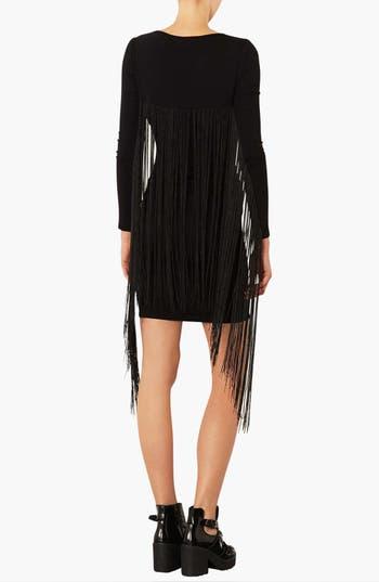 Alternate Image 2  - Topshop Fringe Body-Con Dress