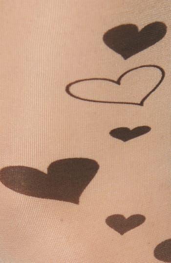 Alternate Image 2  - BP. 'Kitty & Heart Tattoo' Tights (Juniors)