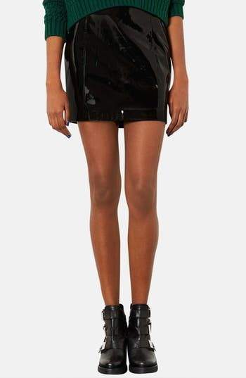 Alternate Image 1 Selected - Topshop Vinyl Miniskirt (Petite)