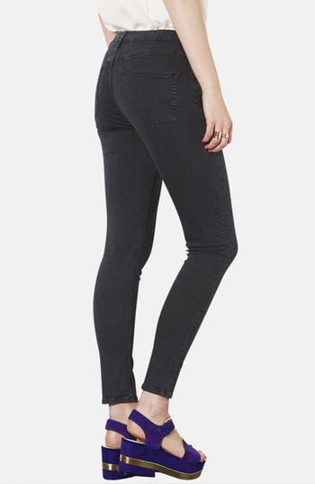 Alternate Image 2  - Topshop Moto 'Jamie' High Rise Skinny Jeans (Black) (Short)