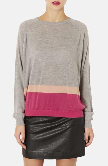Main Image - Topshop Colorblock Merino Wool Sweater