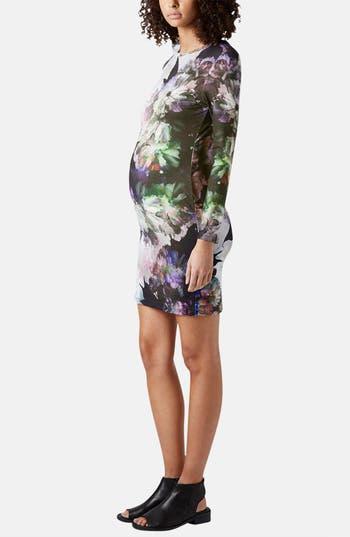 Alternate Image 5  - Topshop 'Digifloral' Print Body-Con Maternity Dress