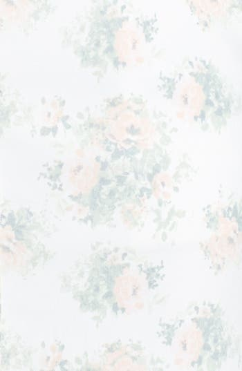 Alternate Image 3  - Lily White Floral Button Front Denim Skirt (Juniors)