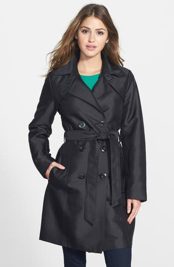 Ellen Tracy Double Breasted Trench Coat Nordstrom