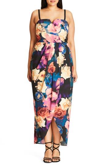 City Chic Secret Garden Maxi Dress (Plus Size)