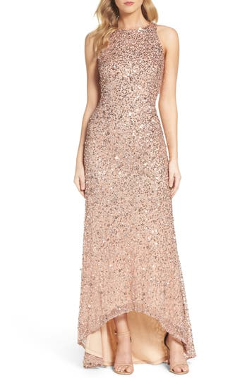 Adrianna Papell Sequin High/Lo..
