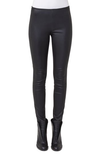 Akris punto Lambskin Leather & Jersey Pants