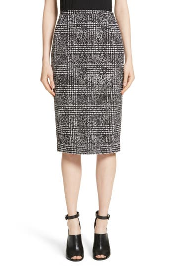 Michael Kors Glen Plaid Stretch Jacquard Skirt