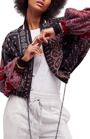 Free People Paisley Bomber..