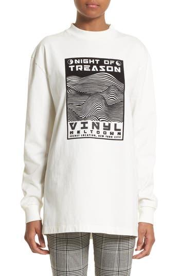 Alexander Wang Flocked Graphic Sweatshirt