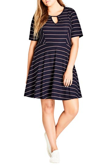 City Chic Morissette Fit & Flare Dress (Plus Size)