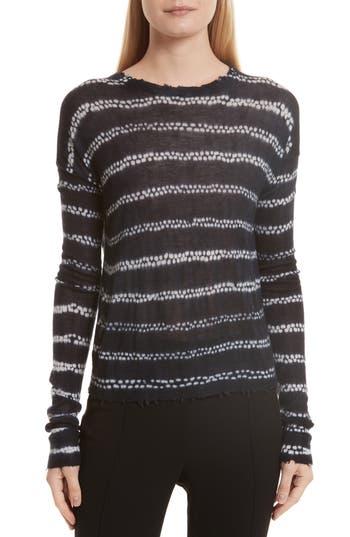 Helmut Lange Grunge Stripe Cashmere Sweater