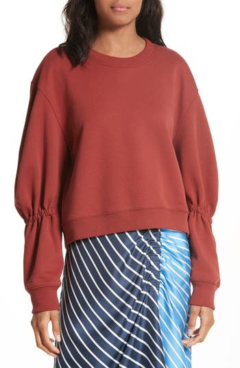Tibi Sculpted Sleeve Sweat..