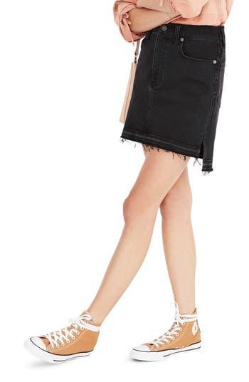 Madewell Step Hem Denim Miniskirt