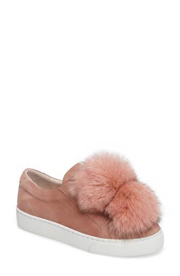 Here / Now Audrey Genuine Fox Fur Slip-On Sneaker (Women)