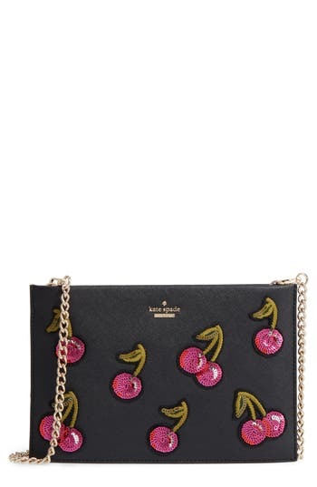 kate spade new york ma cherie - cherries sima leather shoulder bag (Nordstrom Exclusive)