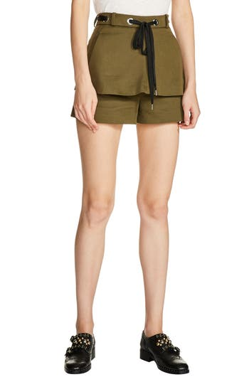 maje Double Layer Drawstring Shorts