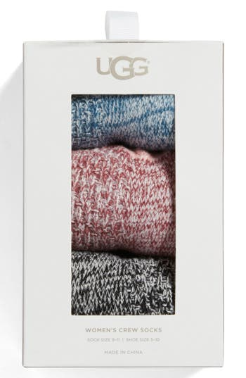 UGG® Assorted 3-Pack Crew Soc..