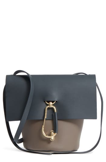 ZAC Zac Posen Belay Colorblocked Leather Crossbody Bucket Bag