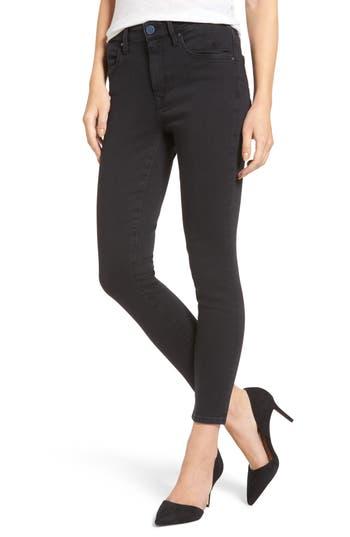 Mavi Jeans Tess High Waist Ankle Skinny Jeans (Dark Smoke Indigo Move)