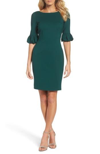 Adrianna Papell Bishop Sleeve Sheath Dress