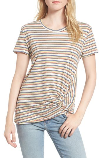 Stateside Stripe Twist Front Tee