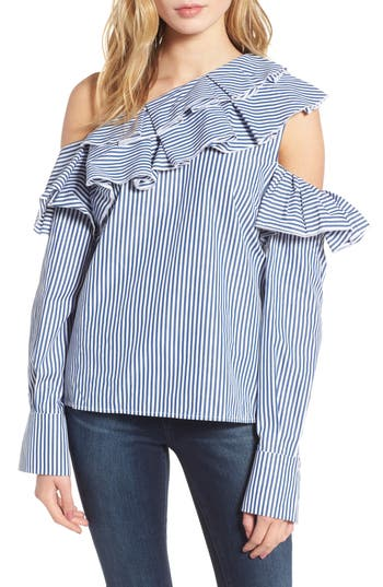 Leith Ruffle One-Shoulder Blouse