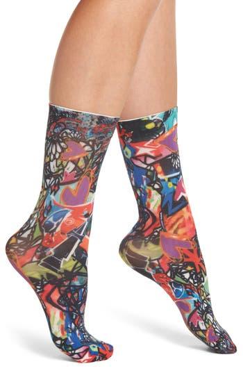 SPANX® Standout Graffiti Crew Socks